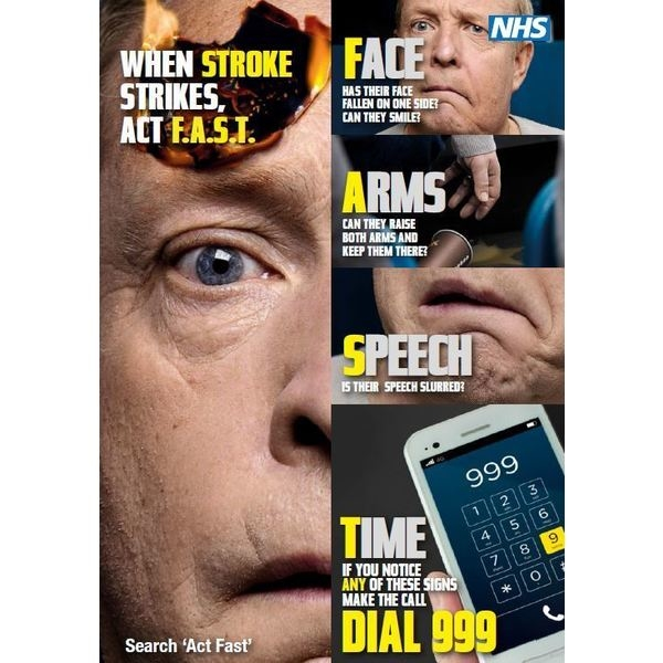 Thumbnail image for When Stroke Strikes, Act F.A.S.T (A4 poster - smart phone)