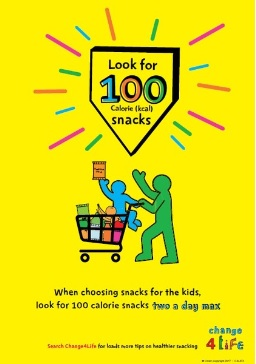 Thumbnail image for Look for 100 calorie (kcal) snacks (A4 poster)